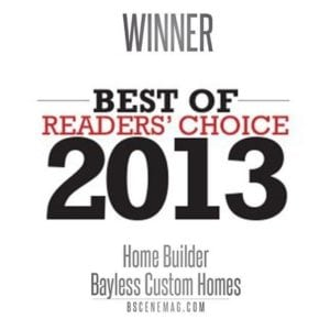 Bscene Readers Choice 2013 - Bayless Custom Homes tyler tx