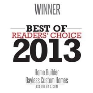 Bscene Readers Choice 2013 - Bayless Custom Homes tyler tx